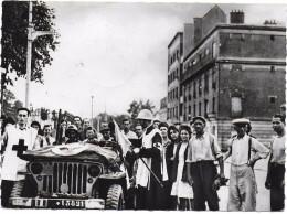 CROIX ROUGE FRANCAISE 3EME CONGRES NATIONAL PARIS 1950 ARMEE LECLERC LIBERATION JEEP CACHET POSTAL - Weltkrieg 1939-45