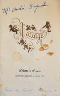 ANCIEN MENU De Mariage Colette Et Louis à Souvignargues Le 9 Juillet 1955 - En Bon état - - Menú