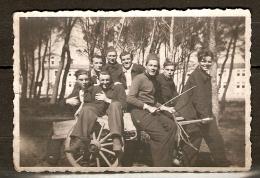 PHOTO ORIGINALE GROUPE DE MILITAIRES - MILITAIRE SOLDAT - Guerre, Militaire
