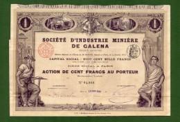 T-FR Societé D´ Industrie Minière De Galena 1914 N.068 - Actions & Titres