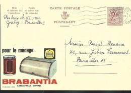 Publibel Obl. N° 1823 ( BRABANTIA Pour Le Ménage  - Lommel )  Obl: Bxl:  1962 - Stamped Stationery