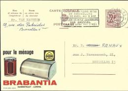Publibel Obl. N° 1823 ( BRABANTIA Pour Le Ménage  - Lommel )  Obl: Bxl:  1962 + Flamme Foire De Bxl - Stamped Stationery