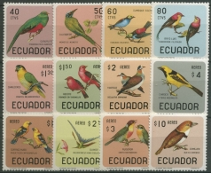 Ecuador 1966 Vögel 1230/41 Postfrisch - Ecuador