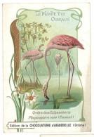 Chromo Chocolat Aiguebelle - Le Monde Des Oiseaux - Ordre Des échassiers, Flamand Rose - Aiguebelle