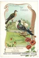 Chromo Chocolat Aiguebelle - Le Monde Des Oiseaux - Ordre Des Gallinacés, Pigeons, Tourterelle - Aiguebelle