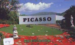 Télécarte JAPON PEINTURE * ART * PICASSO * TELEFONKARTE * Gemälde (114) Phonecard Japan * KUNST * SCHILDERIJ - Pintura