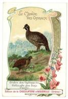 Chromo Chocolat Aiguebelle - Le Monde Des Oiseaux - Ordre Des Gallinacés, Gélinotte Des Bois, Caille Commune - Aiguebelle