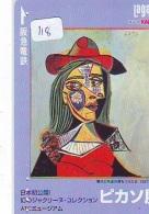 Télécarte JAPON PEINTURE * ART * PICASSO * TELEFONKARTE * Gemälde (118) Phonecard Japan * KUNST * SCHILDERIJ - Pintura