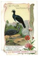 Chromo Chocolat Aiguebelle - Le Monde Des Oiseaux - Ordre Des Gallinacés, Pintade Commune, Hocco Alector - Aiguebelle
