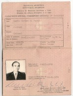 ARGENTINA - Rare !!!  OFFICIAL - OFFICIELLE -  1970 PASSPORT -PASSEPORT -PASAPORTE To A COLONEL For Only 1 Mission - Documentos Históricos