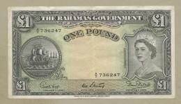 BAHAMAS - QEII  £1  1953  P15b  VF  ( Banknotes ) - Bahamas