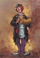 Peinture - Le Clown - Cpm - écrite - Carte Signé Castello  - - Zonder Classificatie