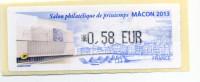 LISA 1/  SALON PHILATELIQUE DE PRINTEMPS MÂCON 2013 - 2010-... Illustrated Franking Labels