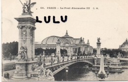 DEPT 75 : Paris 07-08 : Le Pont Alexandre III - Paris (07)