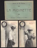 CPA Bergeret Nancy Serie De 5 Cartes La Midinette + Pochette - Bergeret