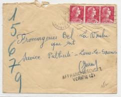 """ALGERIE - 1957 - ENVELOPPE De BAB EL OUED Avec AFFR. MULLER Pour LONS LE SAUNIER (JURA) Avec """"AFFRANCHISSEMENT VERIFIE"""" - Algérie (1924-1962)"""