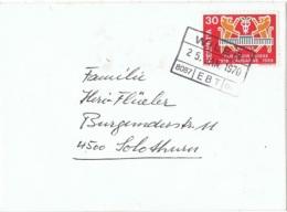 L-FEL56 - SUISSE 50 Ans Comptoir Suiise Lausanne Sur Lettre Obl. De Gare De WILER - Roofkatten
