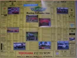 CALENDARIO 1985 - CLASSIC AND SPORTS CAR - CLUB EVENTS CALENDAR - Calendari