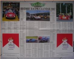 CALENDARIO 1987 - CLASSIC AND SPORTS CAR - CLUB EVENTS CALENDAR - Formato Grande : 1981-90