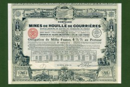 T-FR Mines De Houille De Courrières 1930 Billy-Montigny -Obligation - Actions & Titres