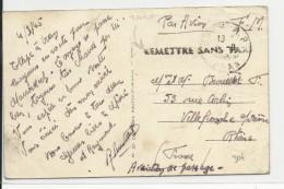 ALGERIE - 1937 - CARTE FM Du 1° REGIMENT ETRANGER D'INFANTERIE à COLOMB BECHAR Avec ERREUR De DATE Sur CACHET : 1916 !! - Marcophilie (Lettres)