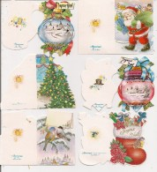 Saisons & Fêtes -  Joli Lot De 6 Images Ou Cartes Cadeau -  NOËL  -  Bottes, Boule, Sapin Père Noël - Noël