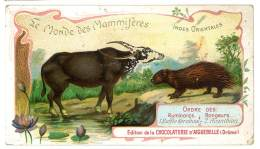 Chromo Chocolat Aiguebelle - Le Monde Des Mammifères - Indes Orientales - Ordre Des Ruminants Rongeurs - Aiguebelle