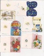 Saisons & Fêtes -  Joli Lot De 6 Images Ou Cartes Cadeau -  NOËL  - Fleurs, Montgolfière, Père Noël - Noël
