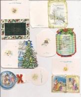 Saisons & Fêtes -  Joli Lot De 6 Images Ou Cartes Cadeau -  NOËL -  Nativité, Boule, Sapin - Noël