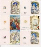 Saisons & Fêtes -  Joli Lot De 6 Images Ou Etiquettes Cadeau -  NOËL -  Nativité, Agneau, Paysage - Noël