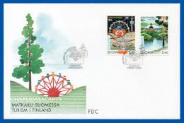 FINLAND 1995  NORDEN TOURISM CLOWN TOURIST ATTRACTIONS  F.D.C.  FACIT 1302-1303 - FDC