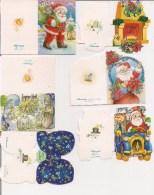 Saisons & Fêtes -  Joli Lot De 6 Images Ou Cartes Cadeau -  NOËL -  Nativité, Cheminée, Père Noël, Auto - Noël