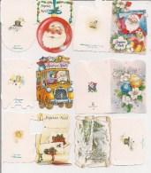 Saisons & Fêtes -  Joli Lot De 6 Images Ou Cartes Cadeau -  NOËL -  Père Noël, Boule, Auto, Fleurs - Xmas