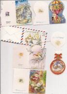 Saisons & Fêtes -  Joli Lot De 6 Images Ou Cartes Cadeau -  NOËL -  Père Noël, Nativité, Montgolfière, Paysage - Noël