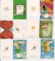 Saisons & Fêtes -  Joli Lot De 6 Images Ou Cartes Cadeau -  Joyeuses Fêtes - Bouchon, Champagne, Livre - Noël