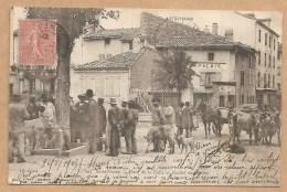 205. Saint Flour -- Place De La Halle Et Marché Aux Veaux - Carte Précurseur Rare - Voyagée 1905 - Marché Nommé - FOIRE - Saint Flour