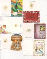 Saisons & Fêtes -  Joli Lot De 6 Images Ou Etiquettes Cadeau - NOËL -  Papillon, Champagne, Cotillons - Xmas