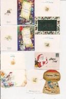Saisons & Fêtes -  Joli Lot De 6 Images Ou Etiquettes  Cadeau - NOËL -  Bouchon, Père Noël, Oiseau - Xmas