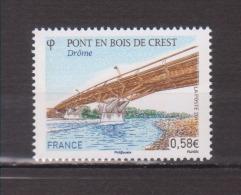 FRANCE / 2011 / Y&T N° 4544 ** : Pont En Bois De Crest - Gomme D´origine Intacte - France