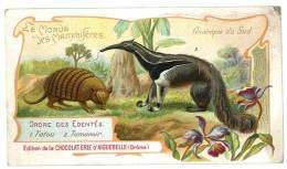 Chromo Chocolat Aiguebelle - Le Monde Des Mammifères - Amérique Du Sud, Tatou, Tamanoir - Aiguebelle