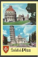 IC102--- CARTOLINE,    PISA,   SALUTI, - Pisa