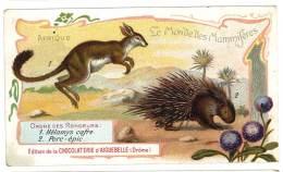 Chromo Chocolat Aiguebelle - Le Monde Des Mammifères - Afrique, Porc-épic, Hélamys Rongeurs - Aiguebelle