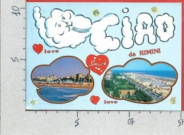 CARTOLINA VG ITALIA - Ciao Da RIMINI  - Vedutine - 10 X 15 - ANN. 199? DIRITTI INFANZIA - Rimini