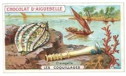 Chromo Chocolat Aiguebelle - Les Coquillages, Harpe, Clavagelle - Aiguebelle