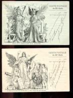 2016 04 15  LOT De 2 Cartes Illustrateur Grellet, Carte Postale Du Xx° Siècle Le Premier Jour Du Premier Mois - Non Classés