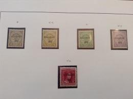 LUXEMBOURG LUXEMBURG SÉRIE DE 1920 & 1921 PRÉOBLITÉRÉS TYPOGRAPHIQUE - SATZ BUCHDRUCK -  MNH ** / MH * - Luxembourg