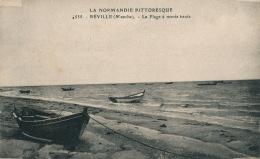 REVILLE - La Plage à Marée Haute - France