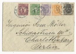 SUEDE - 1910/19 - ENVELOPPE Pour CHARLOTTENBURG (BERLIN)