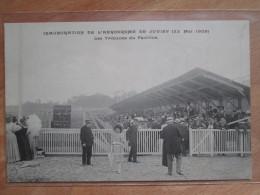 INAUGURATION DE L AERODROME DE JUVISY 1909 . LES TRIBUNES DU PAVILLON - Juvisy-sur-Orge