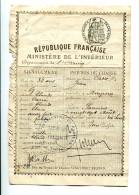 2016 04 15 Ariège Habitant De Mirepoix, Permis De Chasse De 1898 - Documentos Históricos